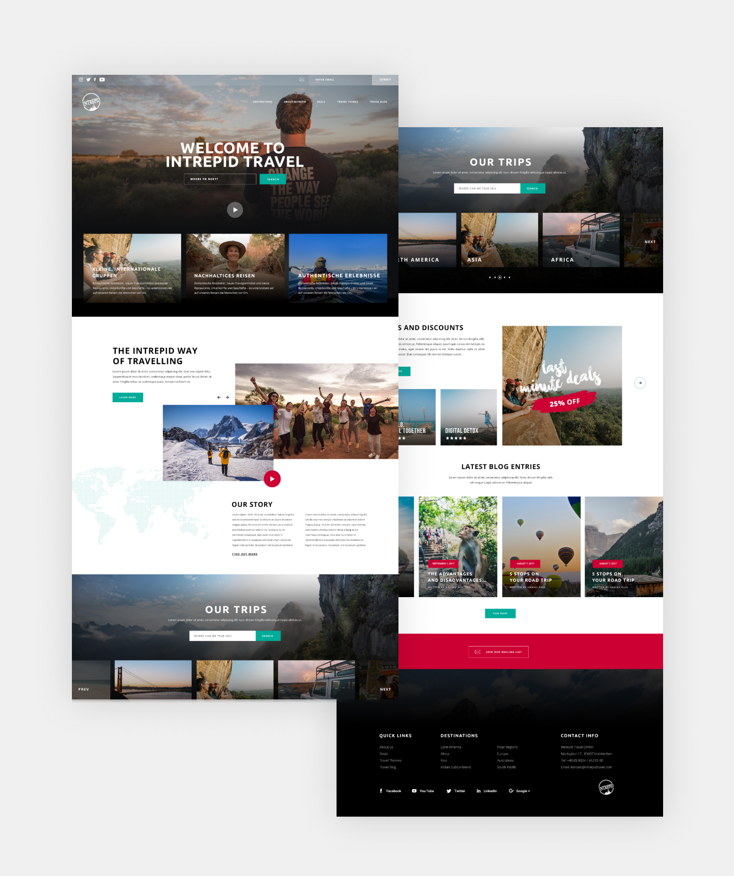 Intrepid Travel Homepage