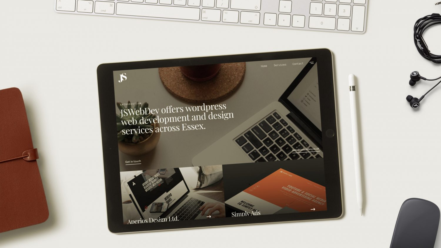 website homepage - Tablet homepage